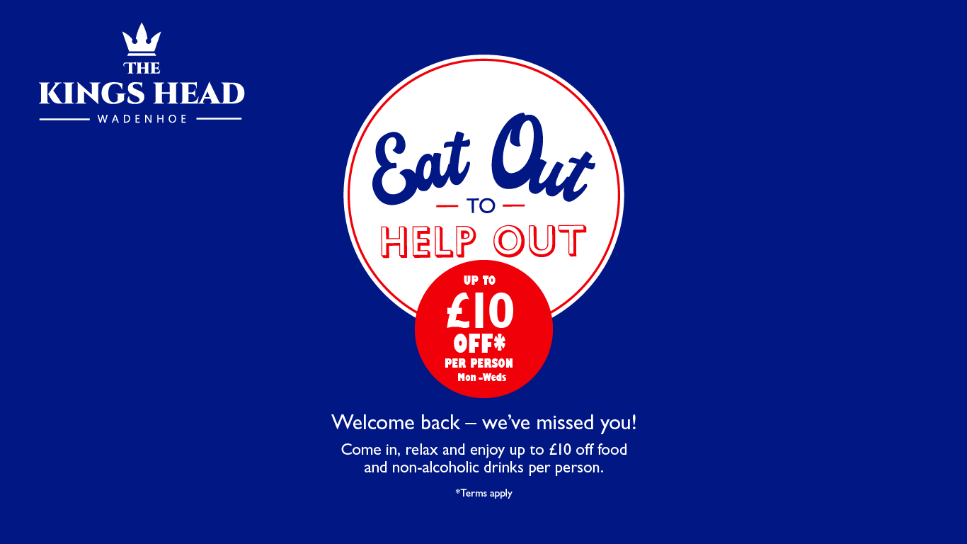 Eat Out To Help Out At The Kings Head Wadenhoe